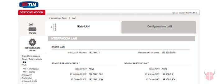 IP statico su router