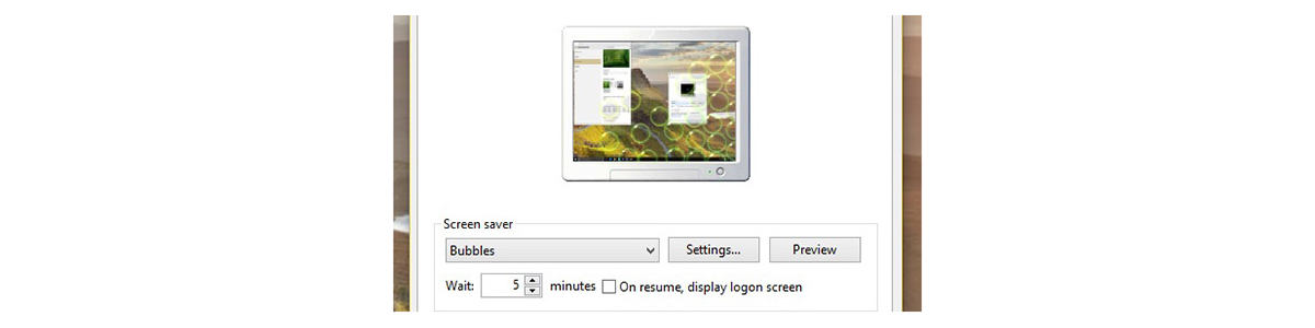 come cambiare sfondo Windows 10 screen saver