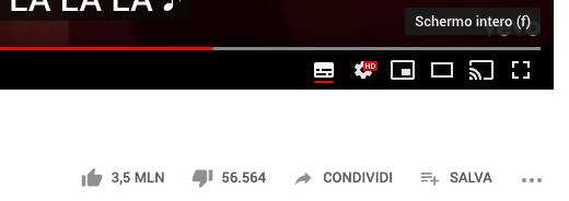 come mettere il browser full screen YouTube