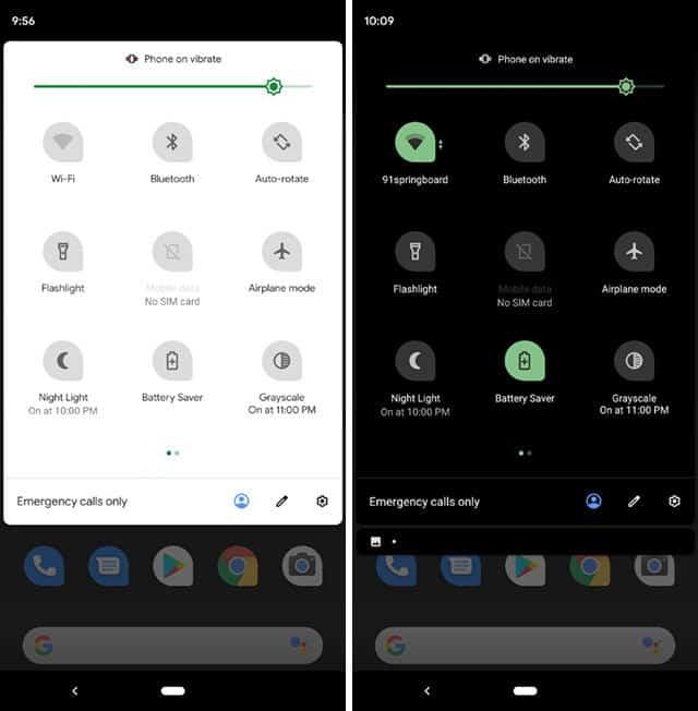 come aumentare durata batteria Android Dark Mode
