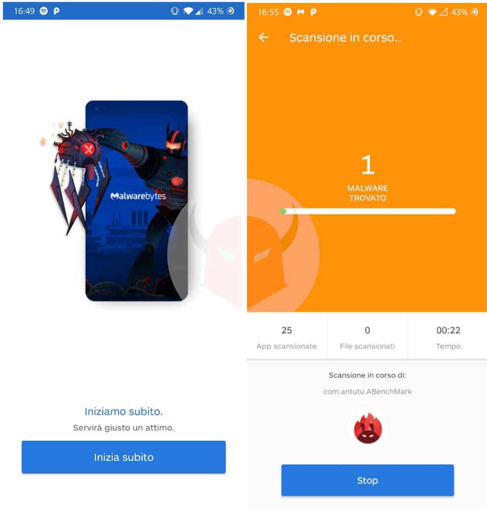 come aumentare durata batteria Android anti-malware Malwarebytes