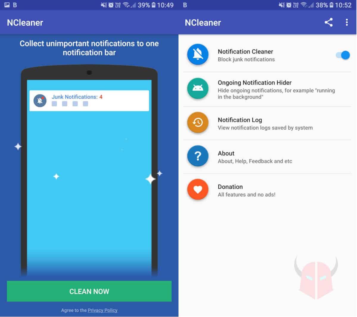 come aumentare durata batteria Android app Notification Blocker