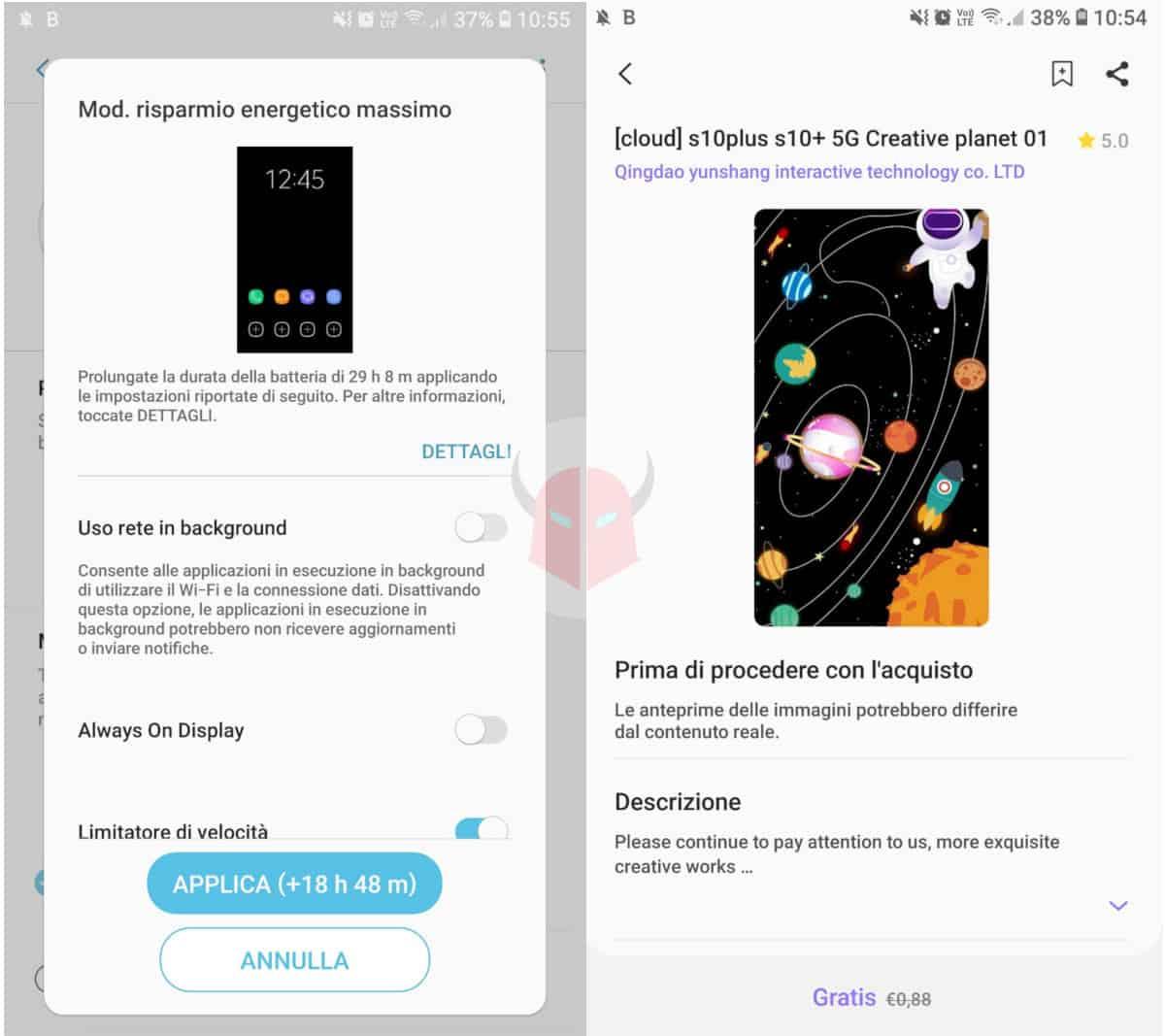 come aumentare durata batteria Android sfondo