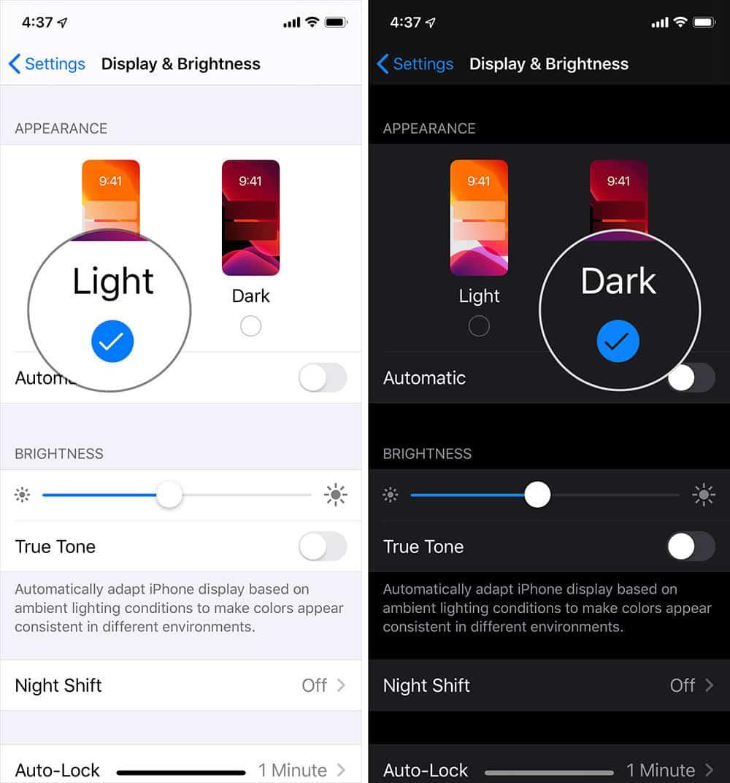 come aumentare durata batteria iPhone modalità Scura