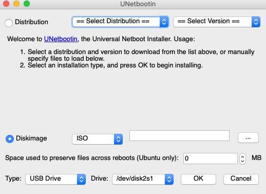 come rendere avviabile una chiavetta USB UNetbootin