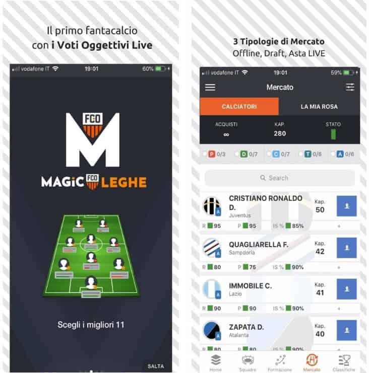 app per il Fantacalcio denominata Magic Leghe
