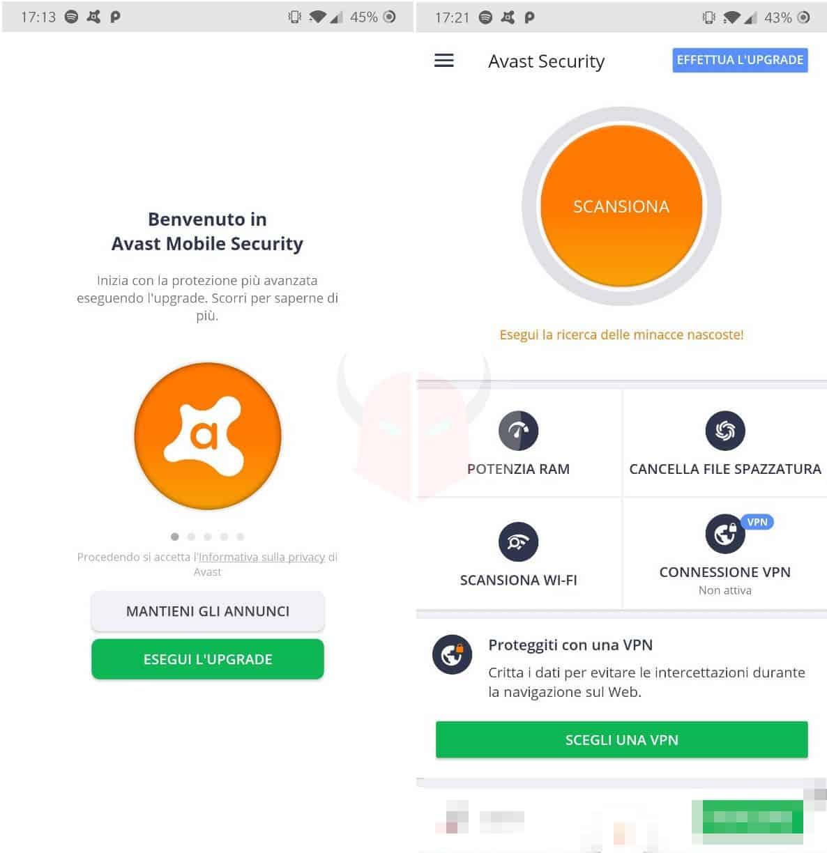miglior antivirus Android gratis Avast