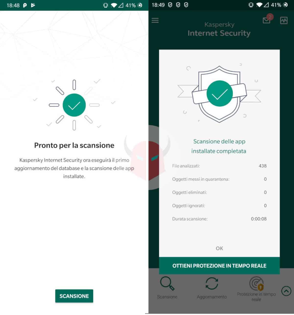 miglior antivirus Android gratis Kaspersky