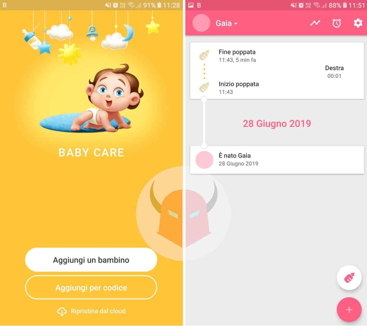 app gravidanza Android Baby Care