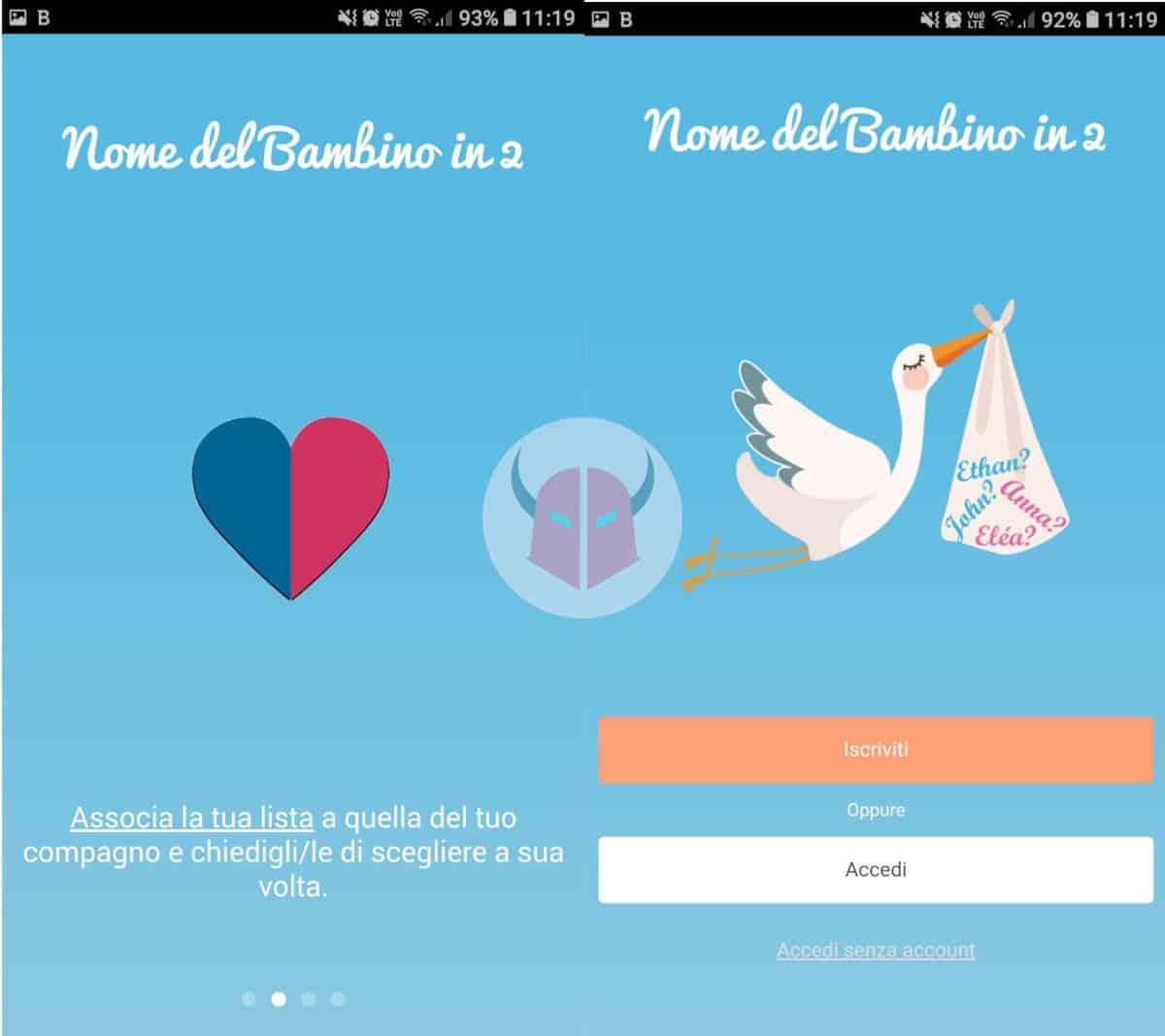 app gravidanza Android Nome del bambino in 2