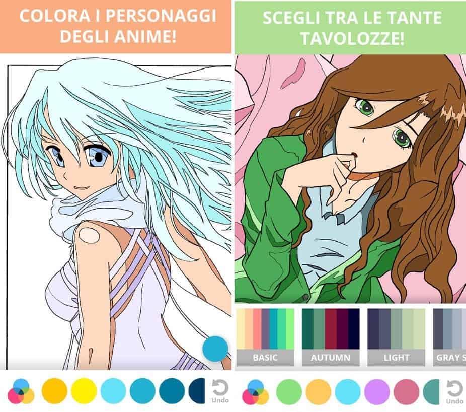 app per manga nome Manga e Anime da colorare