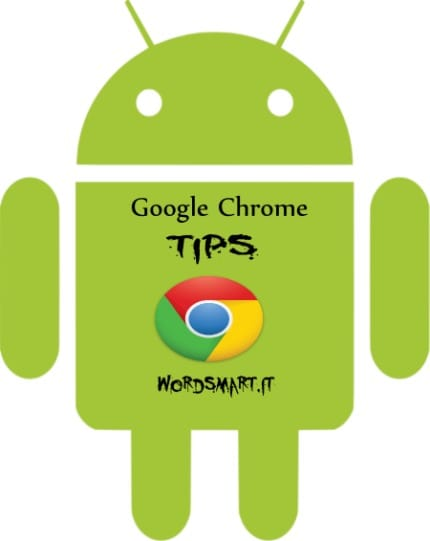 Cancellare privacy Chrome Android wordsmart