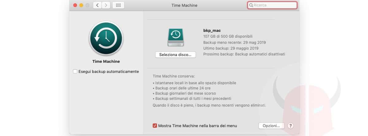 come aggiornare driver scheda video AMD esempio Time Machine