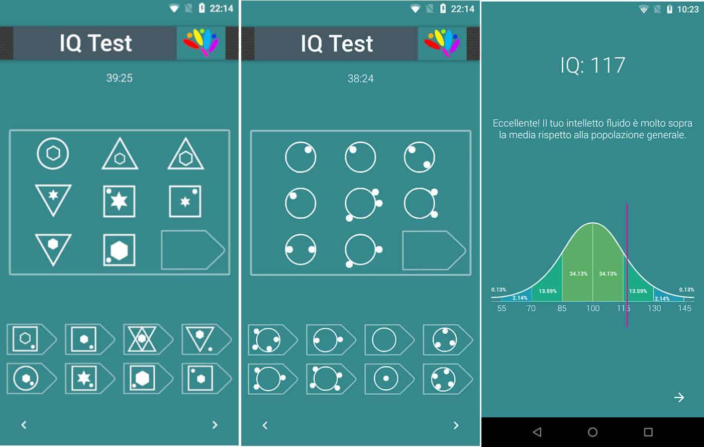 come misurare il quoziente intellettivo app Android