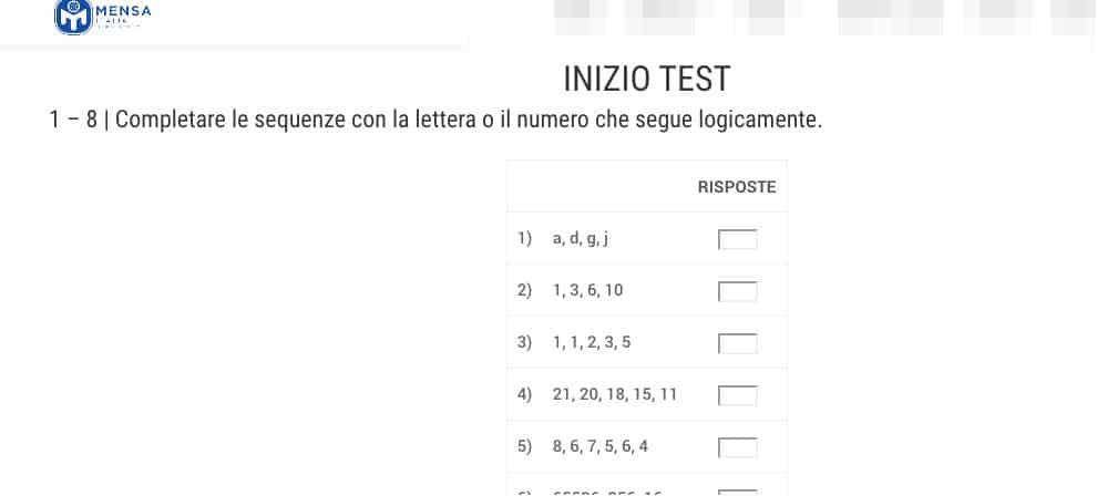 come misurare il quoziente intellettivo sito associazione Mensa Italia