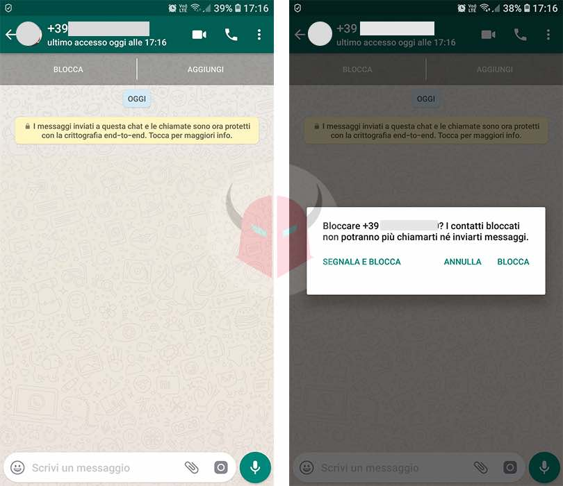 come cancellare account WhatsApp cancellare contatto rubrica