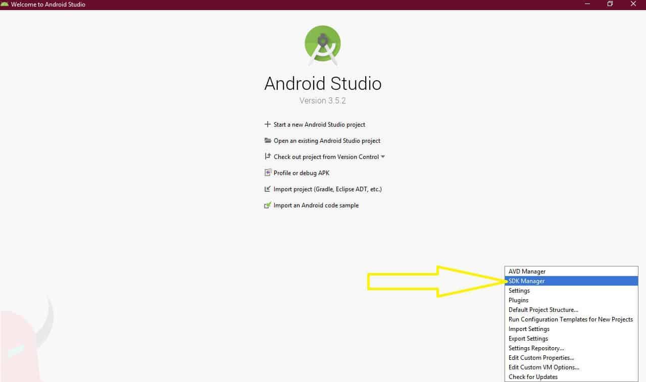 come installare driver USB Android installazione Android Studio opzione SDK Manager