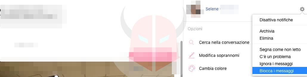 come bloccare una persona su Facebook messaggi
