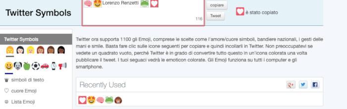 come cambiare nome su Twitter nome visualizzato emoticon