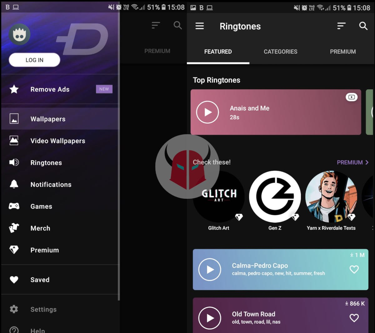 come cambiare suoneria notifiche Facebook Android app Zedge