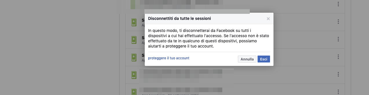 come disconnettere Facebook da tutti i dispositivi PC