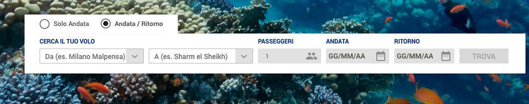 come prenotare un volo online esempio Alpitour