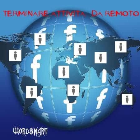 terminare sessione facebook remoto wordsmart