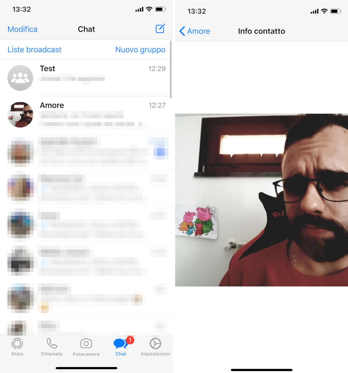 come sbloccare un contatto su WhatsApp visualizzazione foto profilo