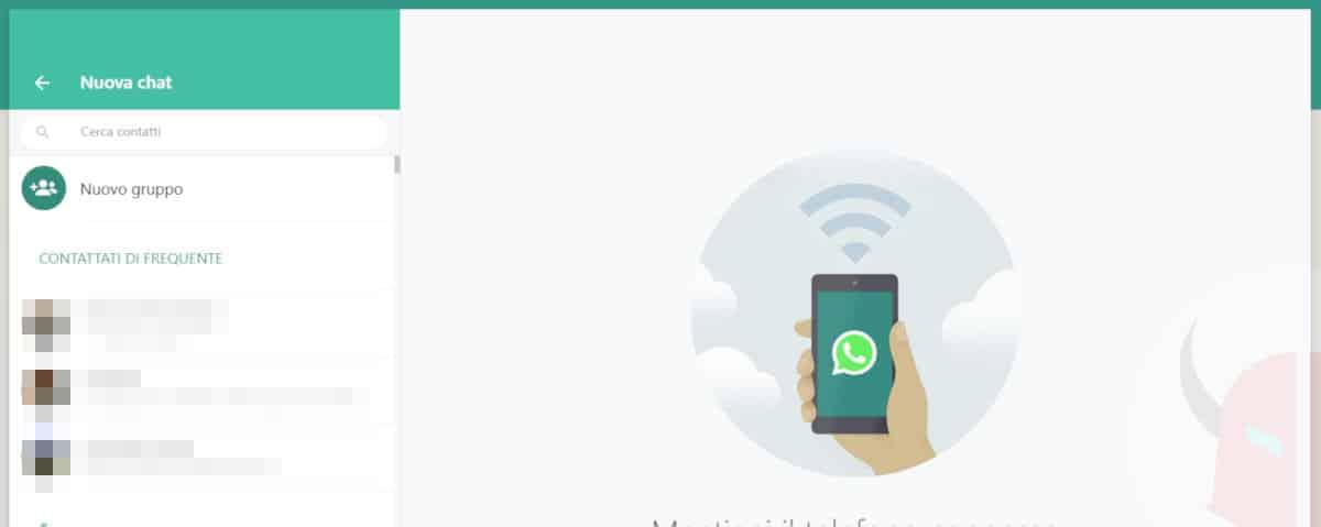 come creare un gruppo WhatsApp PC