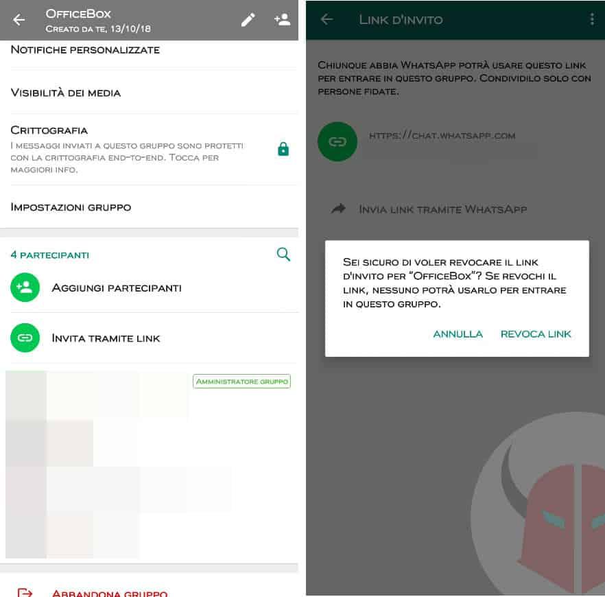 come creare un gruppo WhatsApp invito tramite link