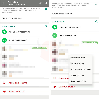 come creare un gruppo WhatsApp opzioni partecipanti