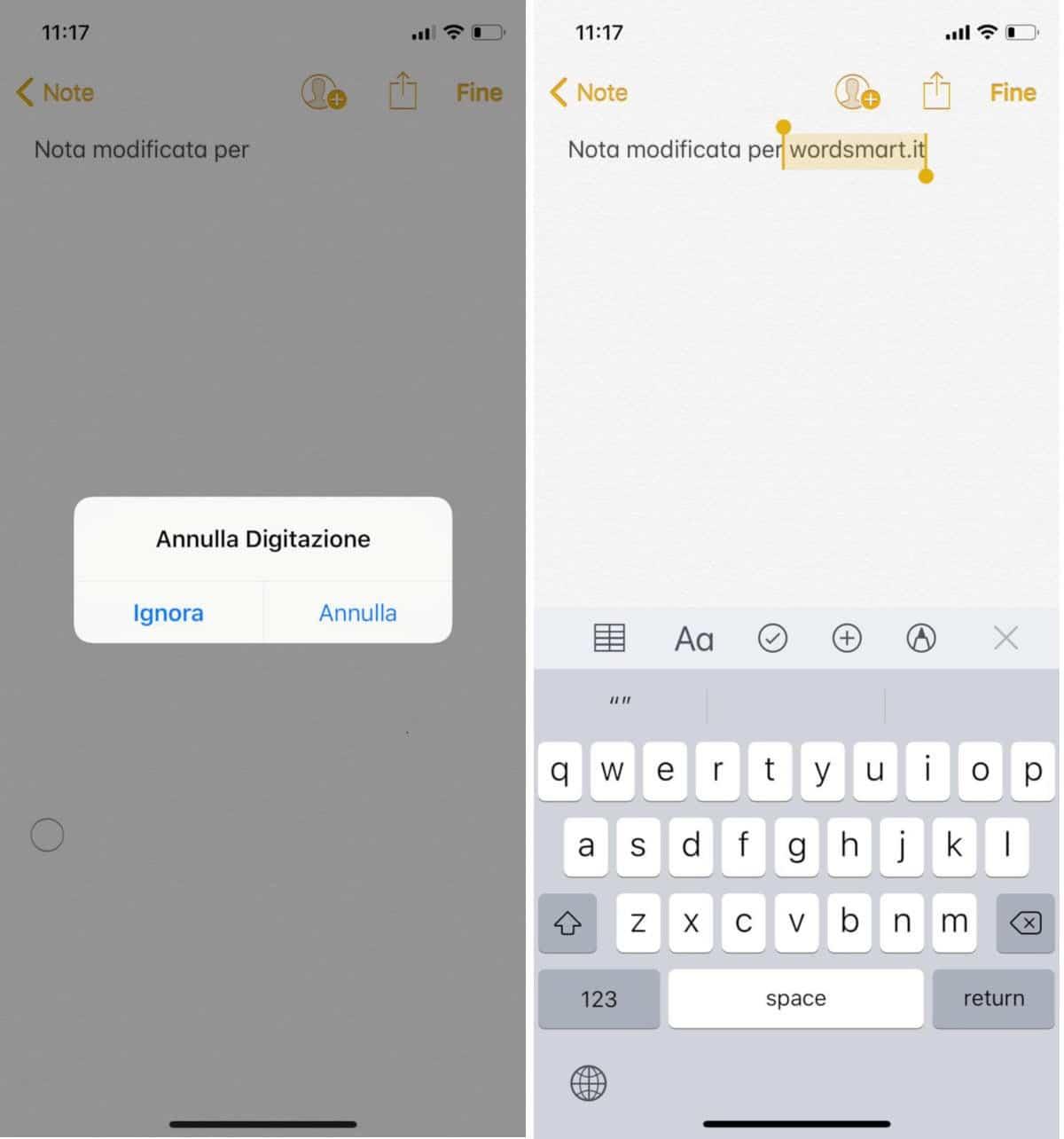 come recuperare le note di iPhone modificate