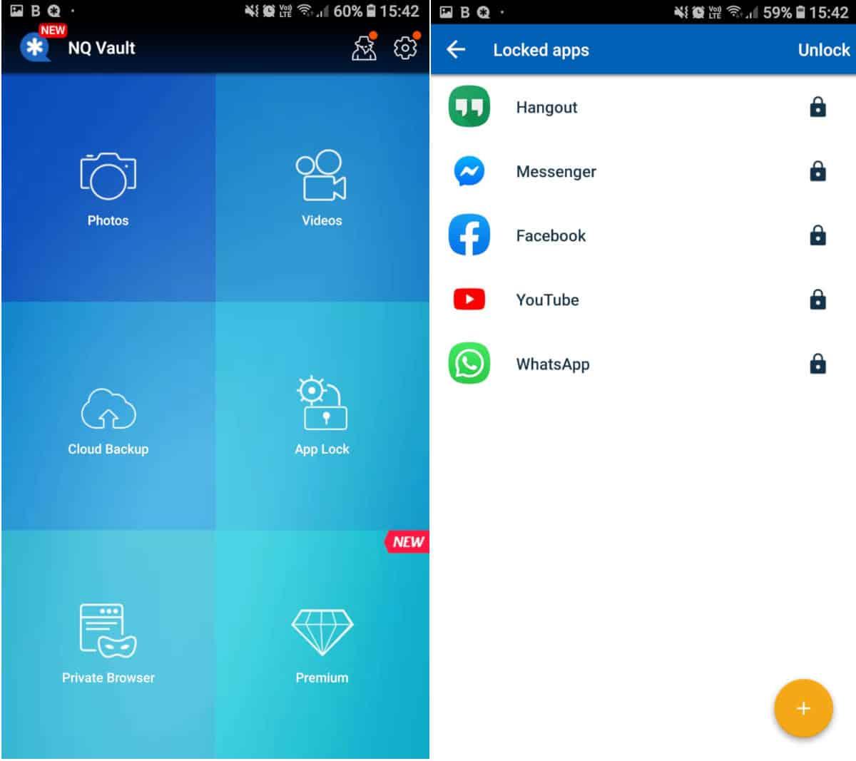 come nascondere le app su Android Vault