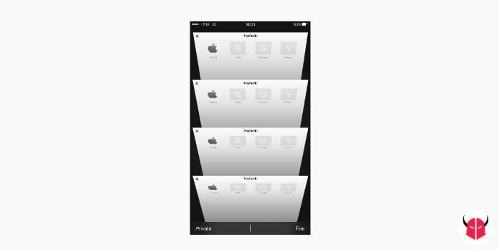 schede recenti Safari iOS