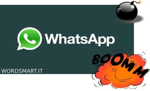 distruggere conversazione Whatsapp