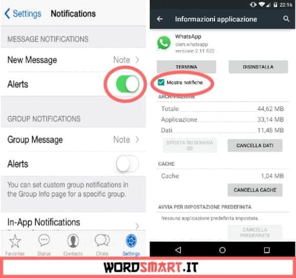 Come rimuovere le notifiche di WhatsApp