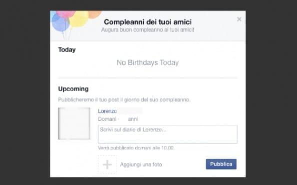 programmare auguri facebook