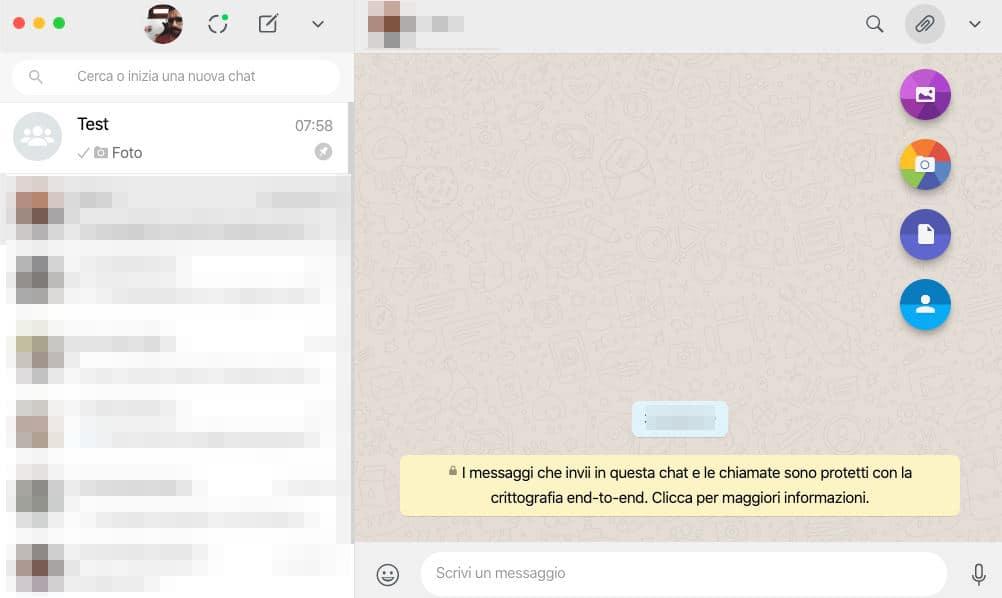 come inviare un video su WhatsApp Web o Desktop