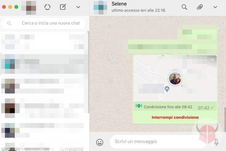 localizzare un cellulare da whatsapp
