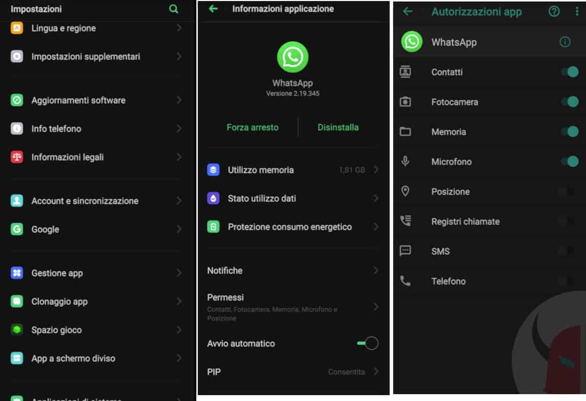 come non farsi localizzare su WhatsApp disattivazione GPS solo per WhatsApp Android