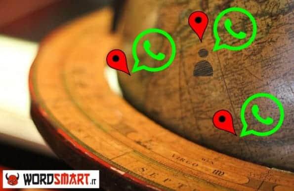 evitare essere localizzati whatsapp