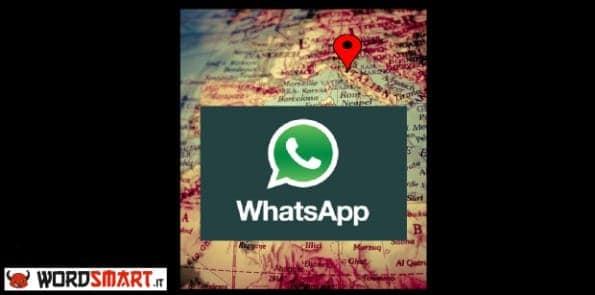 localizzare posizione contatto whatsapp