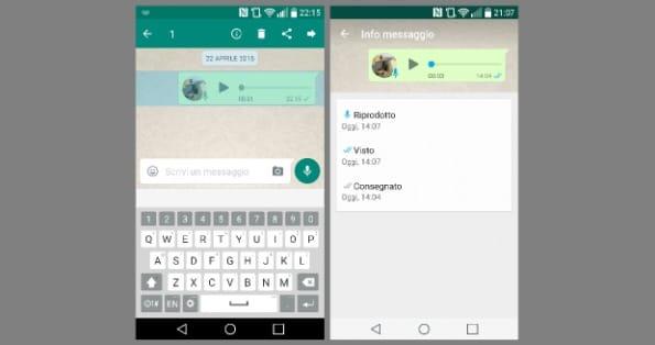 orario ascolto messaggi vocali whatsapp
