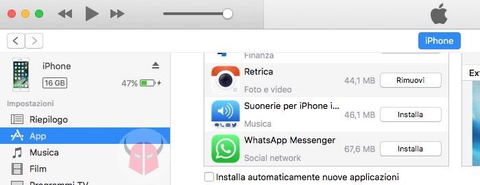 come vedere la versioni di WhatsApp downgrade
