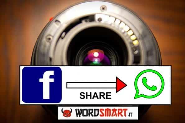 condividere immagini Facebook su WhatsApp