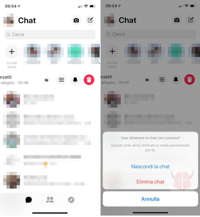 come archiviare conversazioni Messenger con iPhone