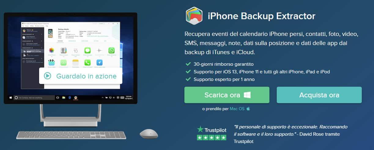 come aprire un database WhatsApp programma iPhone Backup Extractor