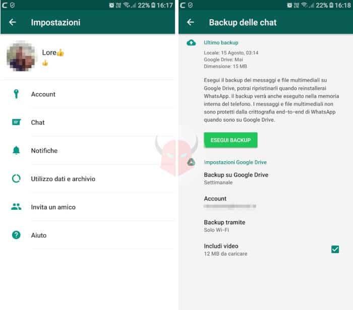 come archiviare tutte le chat WhatsApp backup