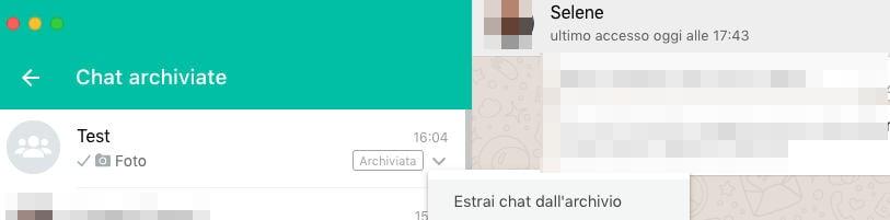 come estrarre tutte le chat archiviate WhatsApp recupero
