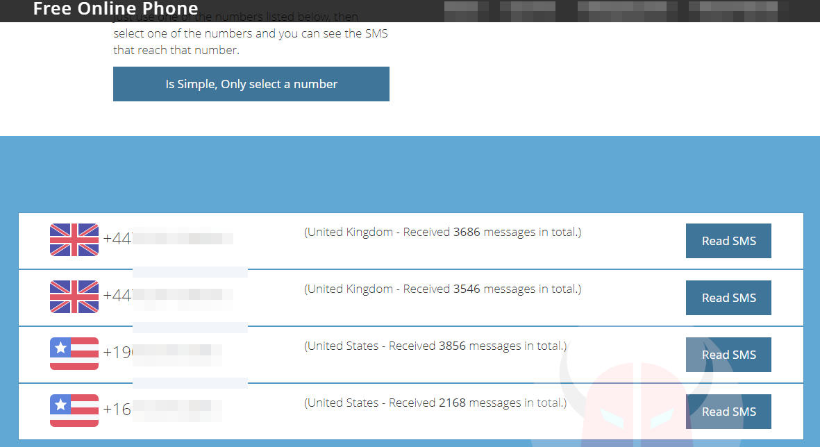 come inviare messaggi anonimi su WhatsApp servizio Free Online Phone
